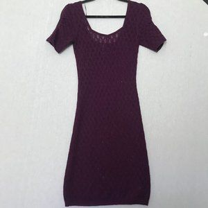 Free People Purple Knit Square Neck Sweater Dress